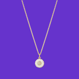 Georg Jensen Daisy Pendant Diamond Gold