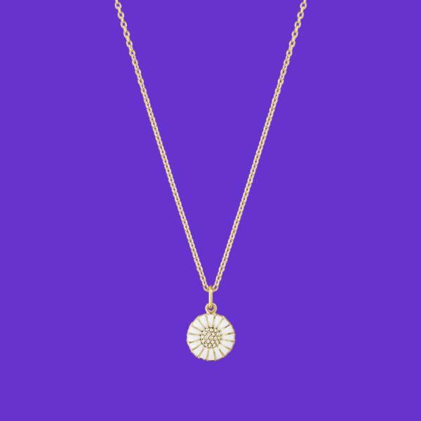 Georg Jensen Daisy Pendant Diamond Gold