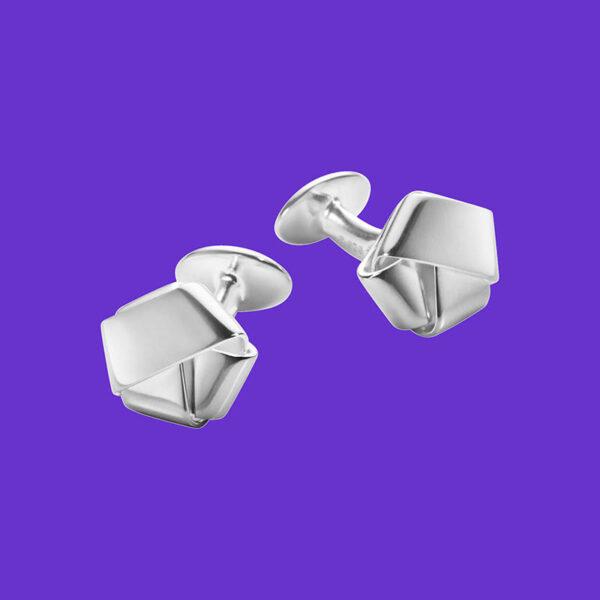 Georg Jensen Classic Cufflinks Ribbon 636A