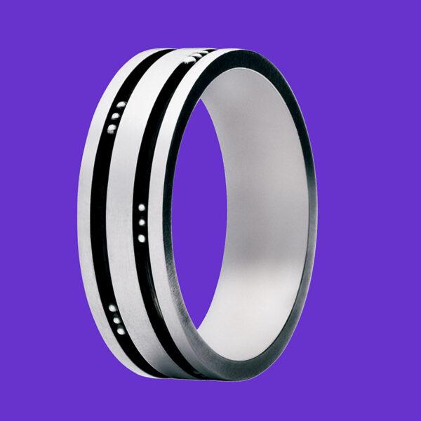 Georg Jensen Men's Groove Ring 60D