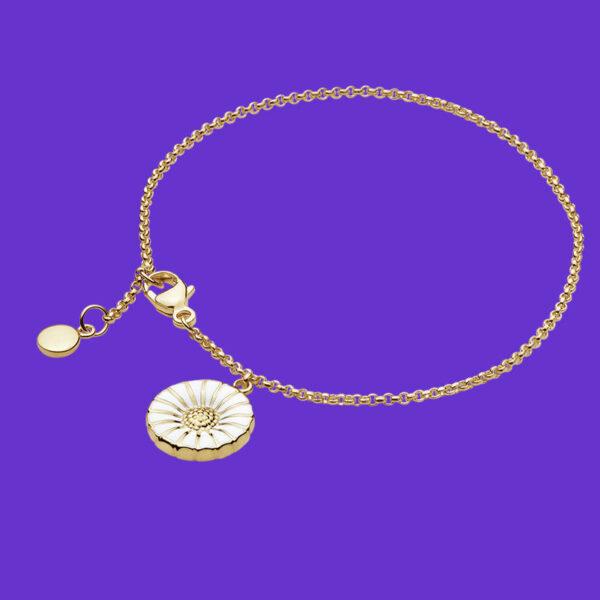 Georg Jensen Daisy Charm Bracelet 18ct Gold plated sterling silver