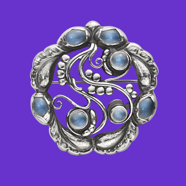 Georg Jensen Moonlight Brooch 159