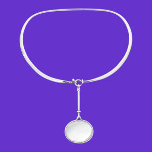 Georg Jensen Dew Drop Rock Crystal Neck Ring 311C