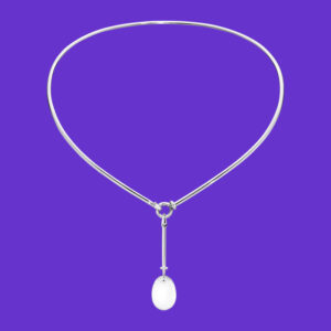 Gerg Jensen Dew Drop Pendant with Neckring 174/128