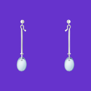 Georg Jensen Dew Drop Earrings Blue Topaz 128