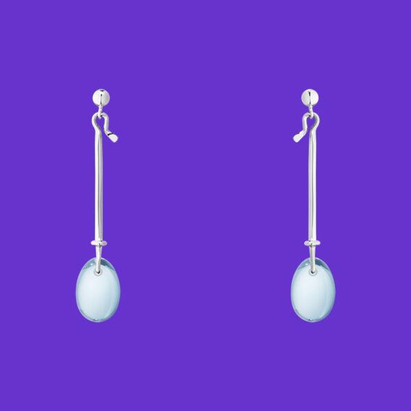 Georg Jensen Dew Drop Earrings Blue Topaz 128