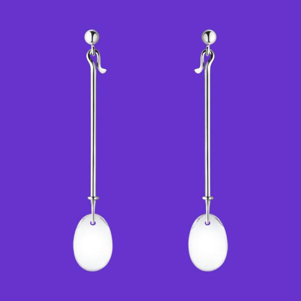 Georg Jensen Dew Drop Earrings Rock Crystal 128