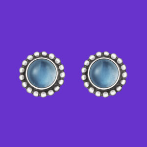 Georg Jensen Moonlight Earrings 9 Blue Moon